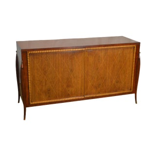 Baker French Art Deco Style Walnut Sideboard (After Jacques Emile Ruhlmann)