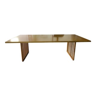 Mid-Century Modern t.h. Robsjohn-Gibbings for Widdicomb Wood Dining Table For Sale