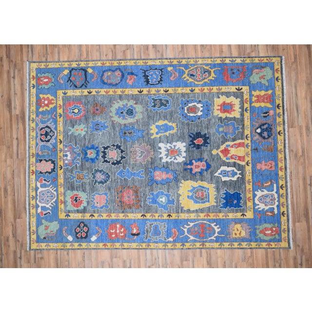 Textile Modern Turkish Oushak Rug - 8′8″ × 12′ For Sale - Image 7 of 7