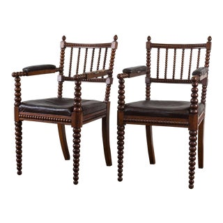 Antique Spindle Chairs - A Pair For Sale