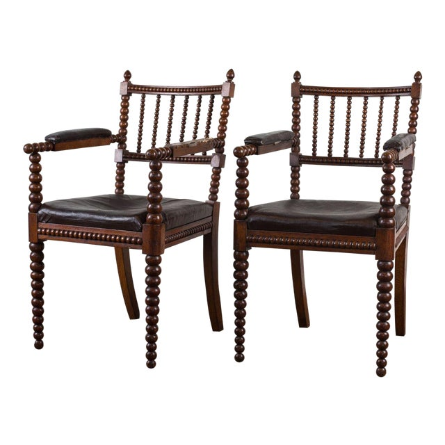 Antique Spindle Chairs - A Pair - Antique Spindle Chairs - A Pair Chairish