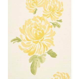 Schumacher Hana Sisal Wallpaper in Yellow For Sale