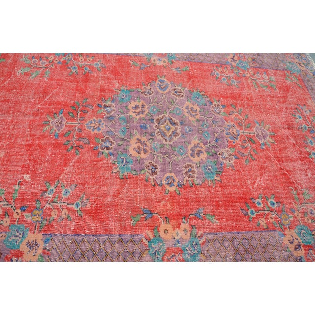 Antique Turkish Wool Rug - 5′10″ × 9′4″ For Sale - Image 5 of 6