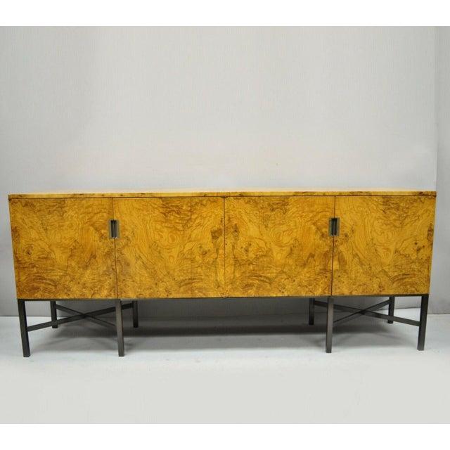 Roger Sprunger for Dunbar Burled Olivewood Credenza For Sale - Image 13 of 13