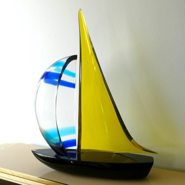 1980s Sailboat Sculpture by Romano Dona' For Sale - Image 5 of 10
