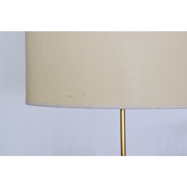 Gold 20th Century French Floor Lamp by Maison Lunel, 1950s For Sale - Image 8 of 9