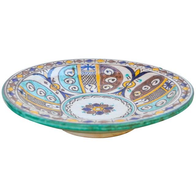Moorish Ceramic Wall Plate For Sale - Image 4 of 9