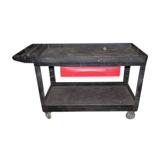 Industrial Plastic Cart With Drawer