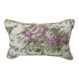 19th Century French Lavender Floral and Ticking Pillows For Sale
