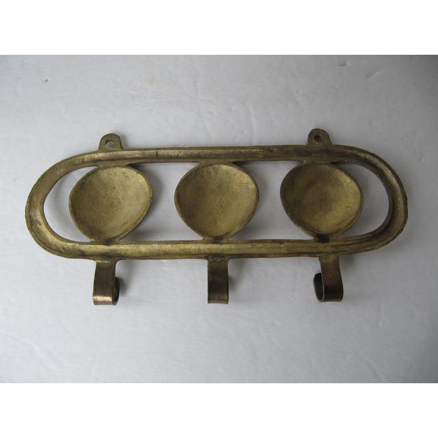 Nautical Vintage Brass Scallop Shell Wall Hook For Sale - Image 3 of 4