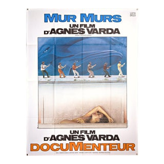 "Vintage 1981 large French poster for Agnes Varda's film ""MurMurs"" For Sale"