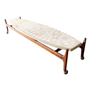 Mid Century Terrazzo Surfboard Coffee Table Attrib to Harvey Probber For Sale