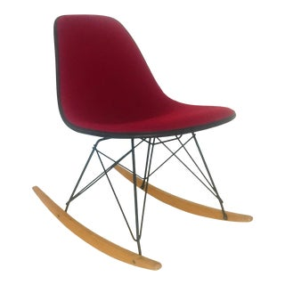 1960's Charles & Ray Eames Rocker by Herman Miller Alexander Girard Upholstery Mid Century Modern Rocking Chair For Sale