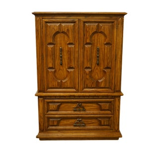 "Thomasville Furniture Costa Del Sol Collection Spanish Mediterranean Style 41"" Armoire For Sale"