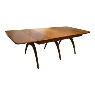 Heywood Wakefield Drop Leaf Triple Wishbone Dining Table