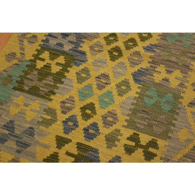 Kilim Arya Jaquelin Gray/Gold Wool Rug -2'8 X 4'2 For Sale In New York - Image 6 of 8