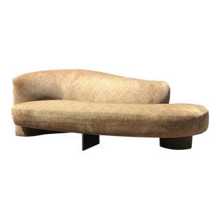 "Vladimir Kagan ""Serpentine"" Sofa W/Lucite Support Bar - Right Arm Left Leg For Sale"