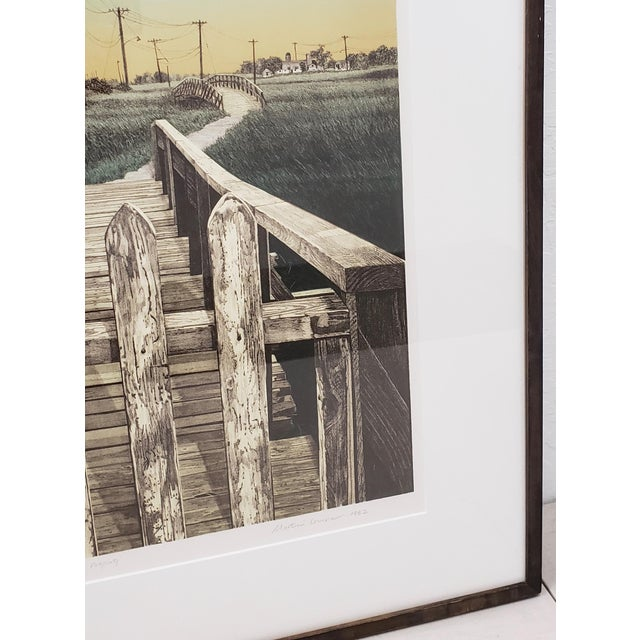 """1980s Martin Levine (American, 20th C.) """"Private Property"""" Limited Edition Color Lithograph C.1982 For Sale - Image 5 of 11"""