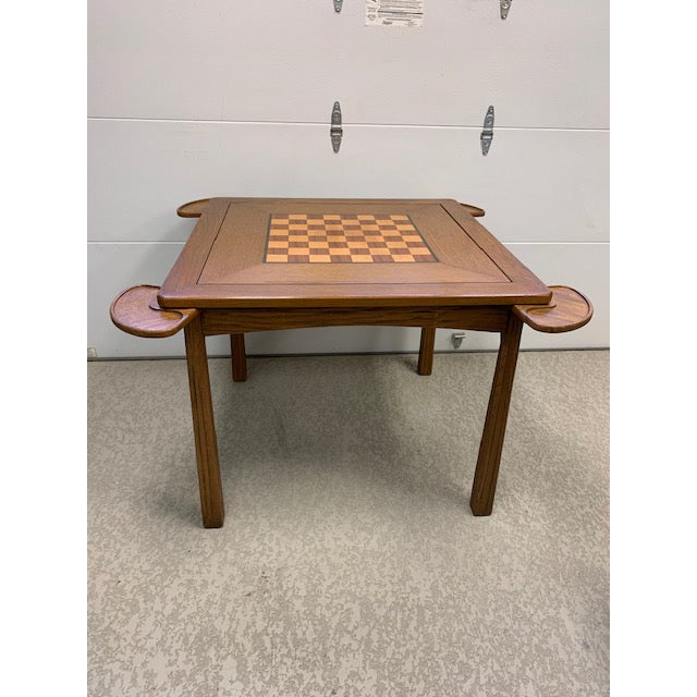 Brown Vintage Brandt Ranch Ranch Oak Gaming Table For Sale - Image 8 of 8