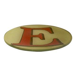 """John Derian Letter """"E"""" Decoupage Plate For Sale"""