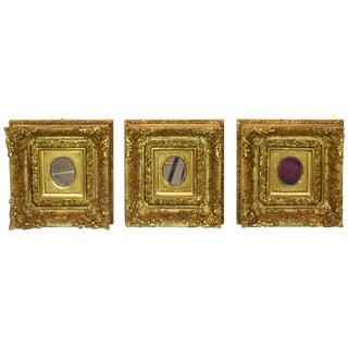 Italian Antique 19th Century Rococo Gilded Mirrors, Set of Three For Sale