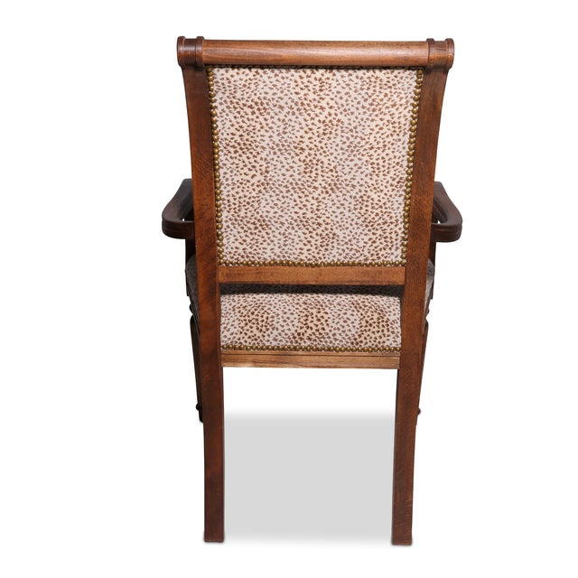Decorator Arm Chair With Cheetah Print - Image 3 of 3