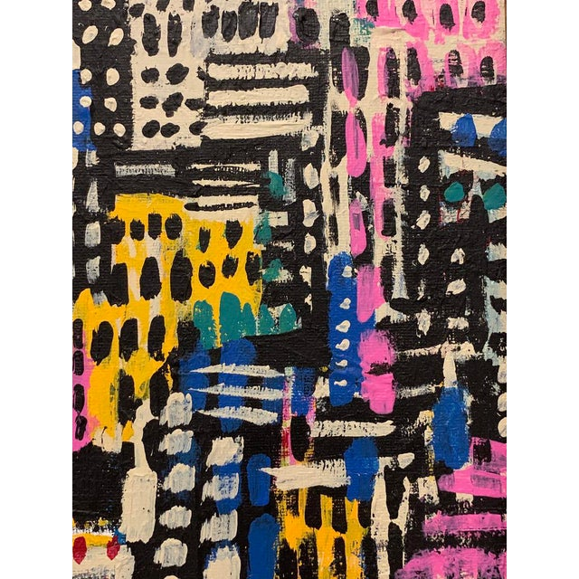 Contemporary Contemporary Patchwork Style Acrylic Painting, Framed For Sale - Image 3 of 4