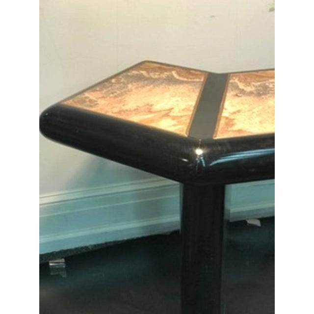 1970s Beautiful Italian Marble Top Console Table For Sale - Image 5 of 9