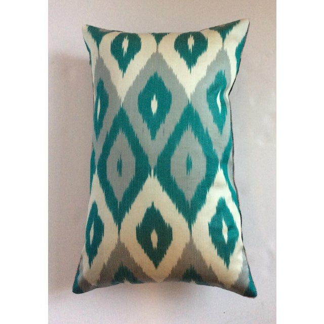 Silk And Velvet Ikat Pillow - Image 4 of 5