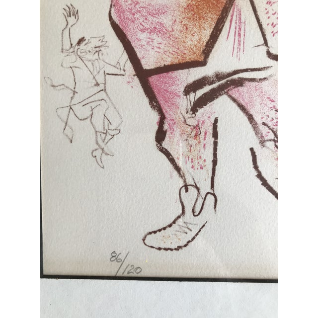 Illustration William Gropper Lithograph Man Playing Violin For Sale - Image 3 of 5