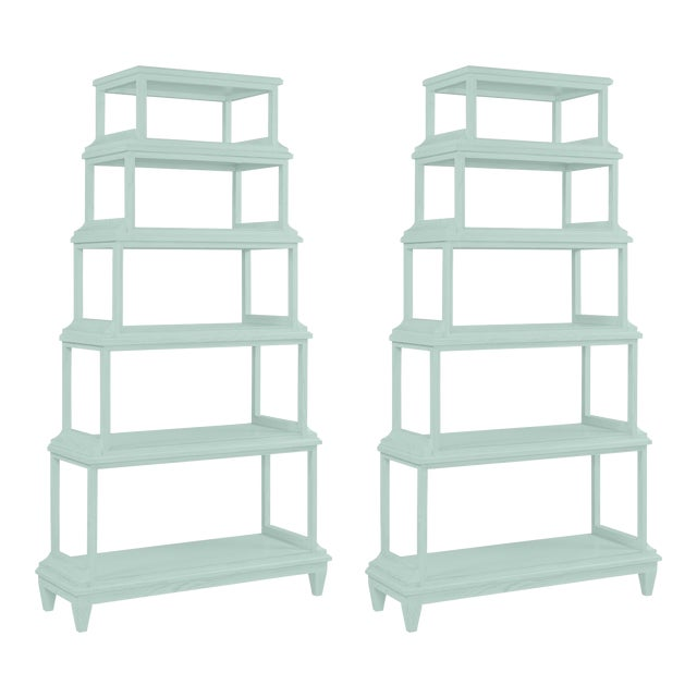Jules Etagere in Palladian Blue - a Pair For Sale