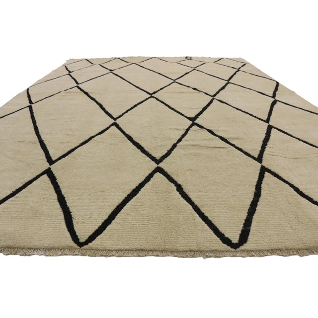 Bauhaus Contemporary Moroccan Area Rug With Modern Style - 10'02 X 13'05 For Sale - Image 3 of 10
