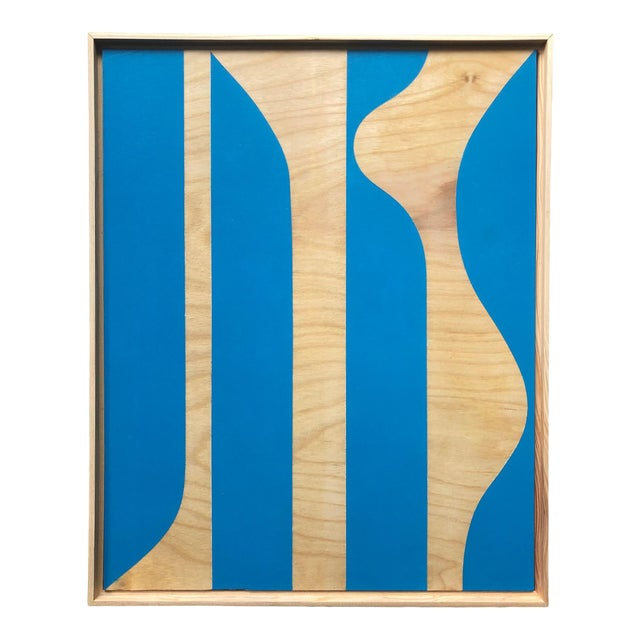 """""""Blue Modern"""" Original Modern Painting by Tony Curry For Sale"""
