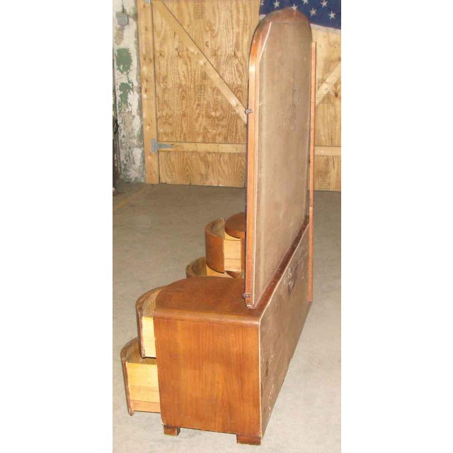 Art Deco Curved Drawers Vanity and Mirror For Sale - Image 9 of 10