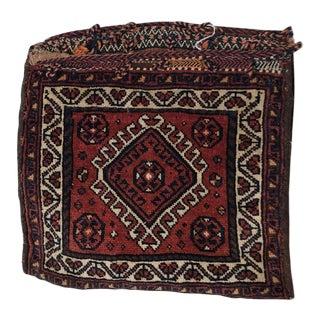 Vintage Persian Reversible Saddle Bag For Sale
