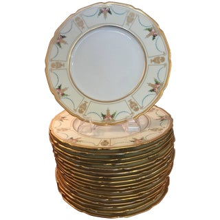 Set of 18 Antique Tiffany Hand-Painted Accent Plates For Sale