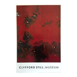 "Clyfford Still Abstract Expressionist Lithograph Print Poster ""Ph - 385 "" 1949 For Sale"