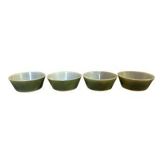 Federal Avocado Green Cereal Bowls - Set of 4 For Sale