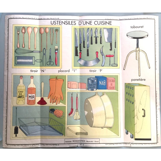 French Vintage Kitchen Cupboard School Poster - Image 7 of 8