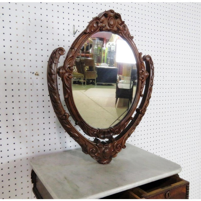 Late 19th Century Late 19th Century Rare Victorian Shaving Mirror For Sale - Image 5 of 10