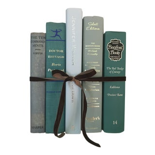 1960s Boho Chic Robin Egg Blue/Green Book Bundle