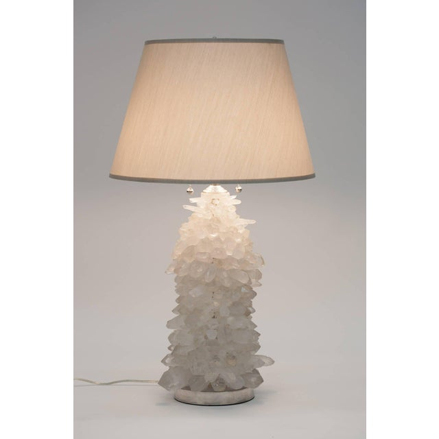 Rock Crystal Cluster Lamps - a Pair For Sale In New York - Image 6 of 7