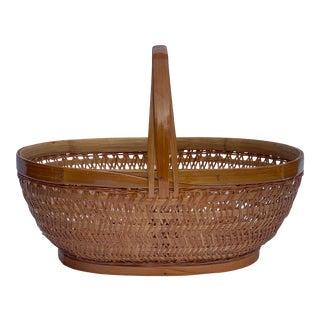 Vintage Chinese Split Bamboo Basket For Sale