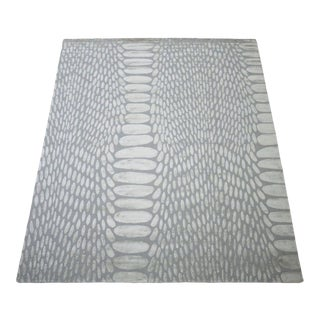 Snakeskin 5' x 8' Rug - Gray For Sale