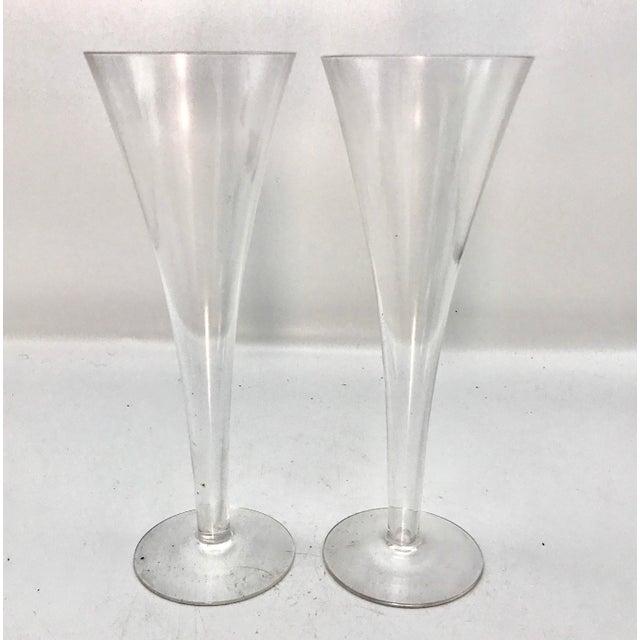 e56c309835381 Vintage Tiffany & Co. Hollow Stem Trumpet Champagne Flutes - A Pair