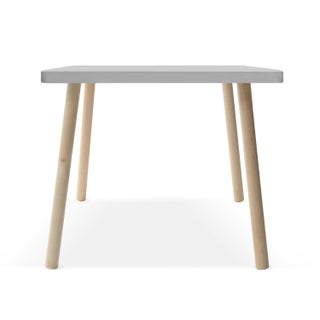 "Tippy Toe Small Square 23.5"" Kids Table in Maple With Gray Finish Accent Preview"