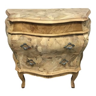 Italian Venetian Rococo Style Bombe Chest For Sale