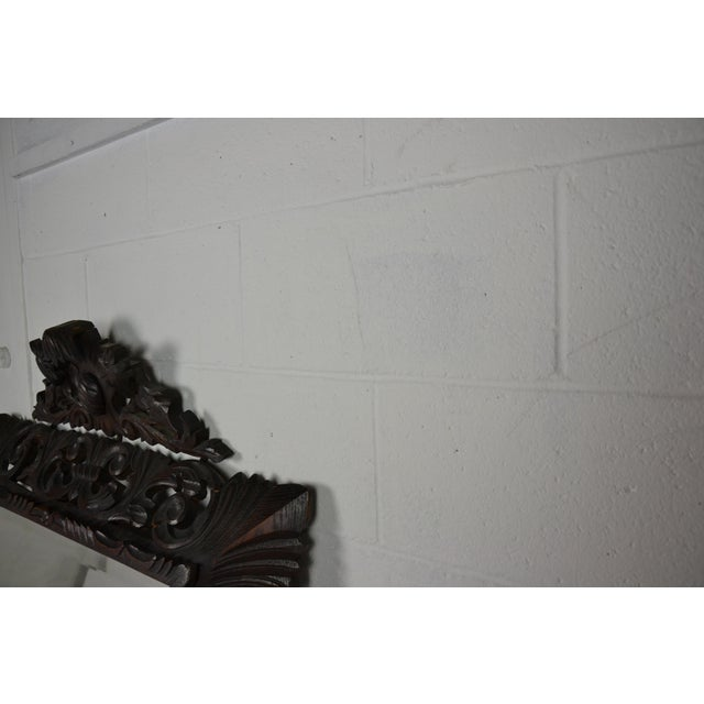 English 19th Century Carved Oak Wall Mirror For Sale - Image 3 of 6