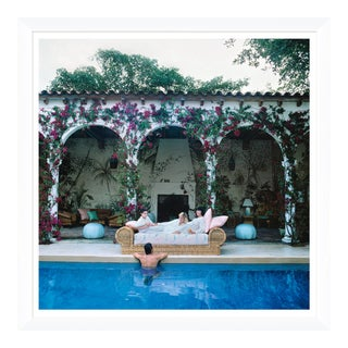 "Slim Aarons, ""Sofa by the Pool,"" January 1, 1984 Getty Images Gallery Art Print For Sale"