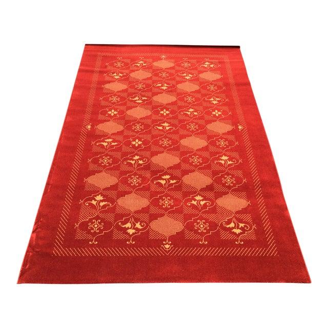 Prado Epos Red Wool Area Rug - 6′6″ × 9′10″ For Sale